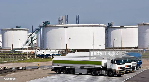 fuel tankers - fuel storage tank stock photos and pictures
