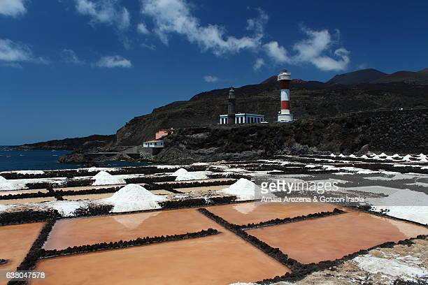 Fuencaliente salt pans in La Palma island, Canary islands