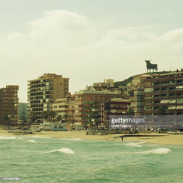 fuengirola beach on winter day - dorte fjalland stock pictures, royalty-free photos & images