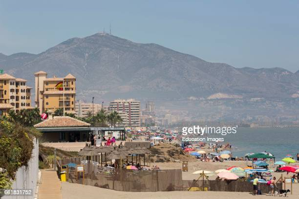 Fuengirola Costa del Sol Malaga Province Andalusia southern Spain Beach in high season