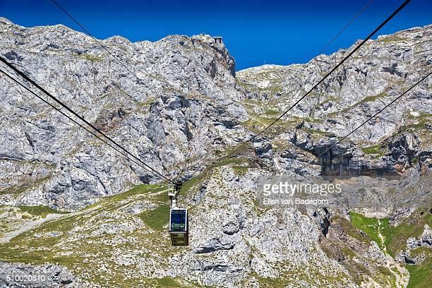 Fuente Dé cable car in Picos de Europa mountains