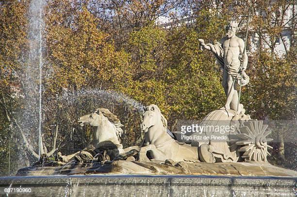 Fuente de Neptuno (Fountain of Neptune)- Madrid- Spain.