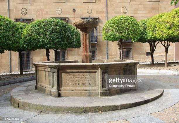 Fuente del Cabildo historic water fountain Plasencia Caceres province Extremadura Spain