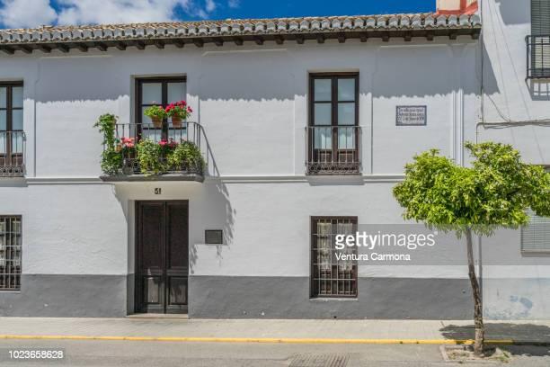 fuente vaqueros - birthplace of the poet federico garcía lorca - granada spain stock pictures, royalty-free photos & images