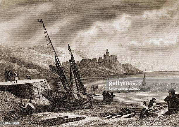 Fuenterrabia and Olarso Point Basque Province and Guipuzcoa Coast Spain in the 18th century