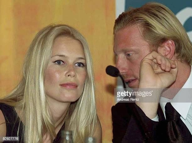 DEUTSCHLAND fuer die WM 2006 Zuerich Supermodel Claudia SCHIFFER mit Boris BECKER/DFB Botschafter