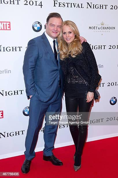 Fuerst Alexander zu SchaumburgLippe and Dr NadjaAnna zu Schaumburg Lippe attend the Bunte BMW Festival Night 2014 at Humboldt Carree on February 7...