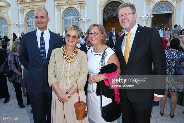 Fuerstin Gloria von Thurn und Taxis and her son Prince Albert von Thurn und Taxis Marcel Huber and his wife Adelgund Huber during the Summer...
