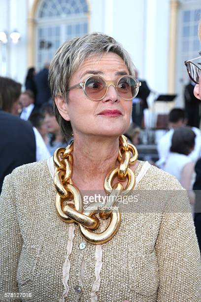 Fuerstin Gloria von Thurn und Taxis during the Summer Reception of the Bavarian State Parliament at Schleissheim Palace on July 19 2016 in Munich...