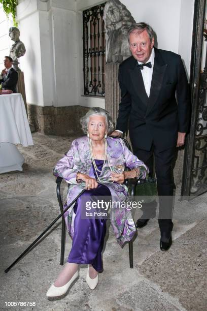 Fuerstin 'Manni' Marianne SaynWittgensteinSayn and Peter Prinz zu SaynWittgenstein during the ISA gala at Schloss Leopoldskron on July 26 2018 in...
