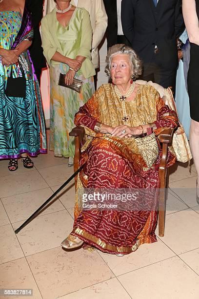 Fuerstin 'Manni' Marianne SaynWittgensteinSayn SaynWittgenstein with camera during the ISA gala at Schloss Leopoldskron on July 27 2016 in Salzburg...