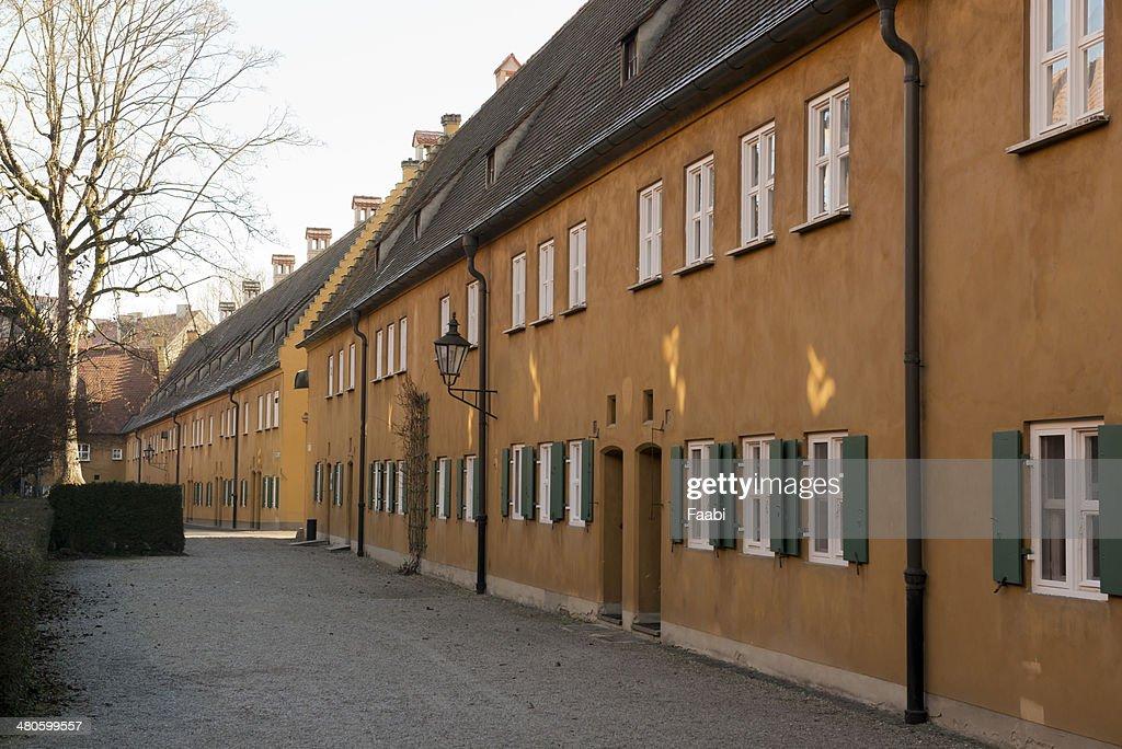 Fuggerei in Augsburg : Stock Photo