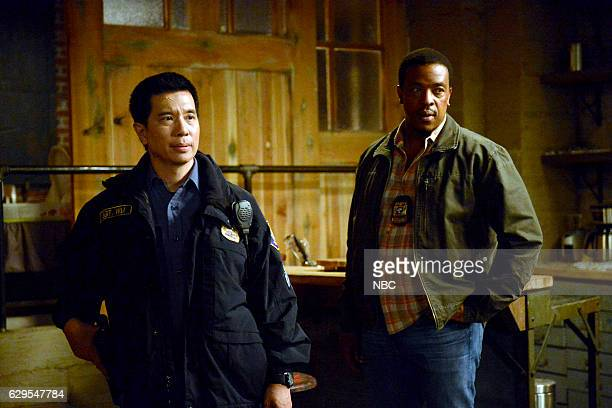 GRIMM 'Fugitive' Episode 601 Pictured Reggie Lee as Sgt Wu Russell Hornsby as Hank Griffin