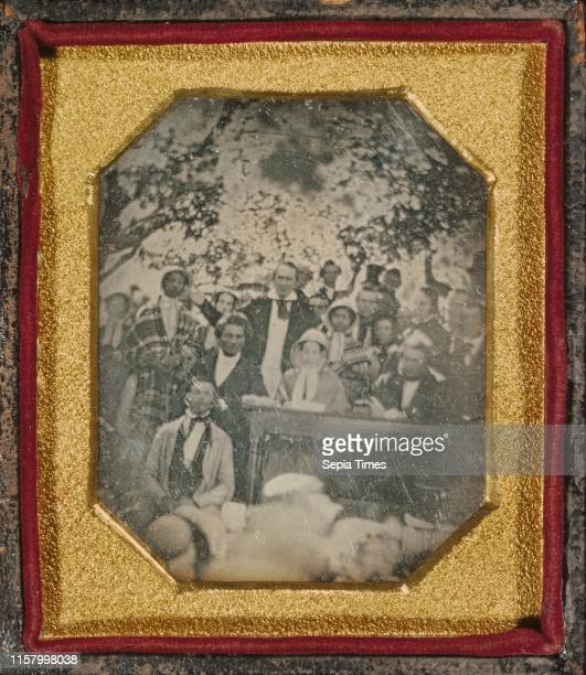 Fugitive Slave Law Convention Cazenovia New York Ezra Greenleaf Weld American 1801 1874 August 22 1850 Daguerreotype 1/6 plate Image 67 x 54 cm Mat...