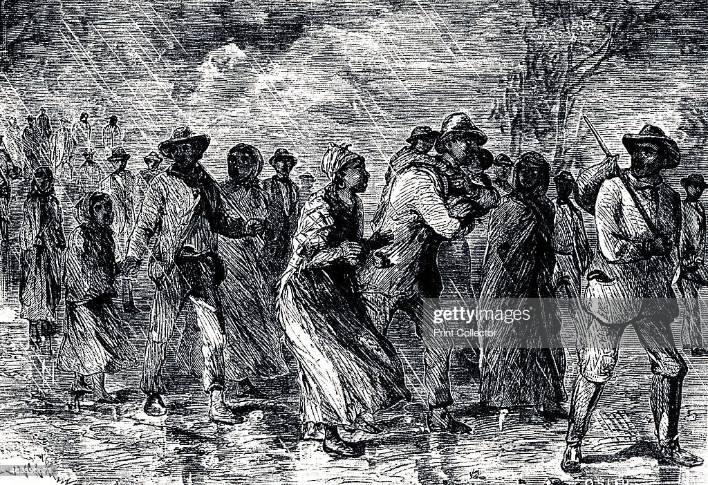 Fugitive slaves fleeing from Maryland to Delaware by way of the 'Underground Railroad', 1850-1851. : News Photo