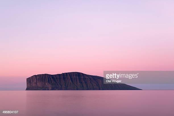 Fugloy island in the light of the midnight sun, Fugloy, Norooyar, Faroe Islands, Denmark