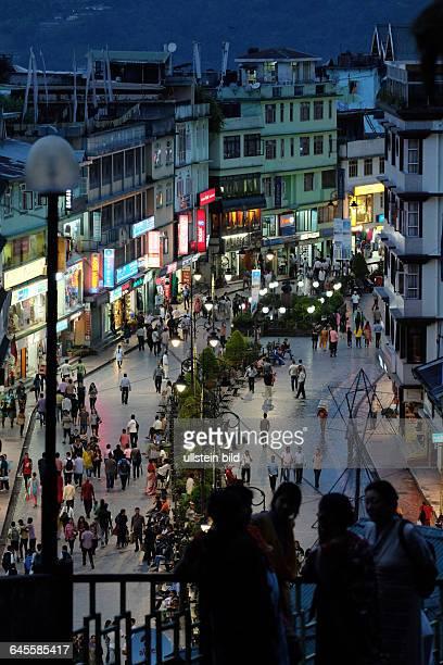 Fußgängerzone und Faniermeile MG Marg im Zentrum von Gangtok