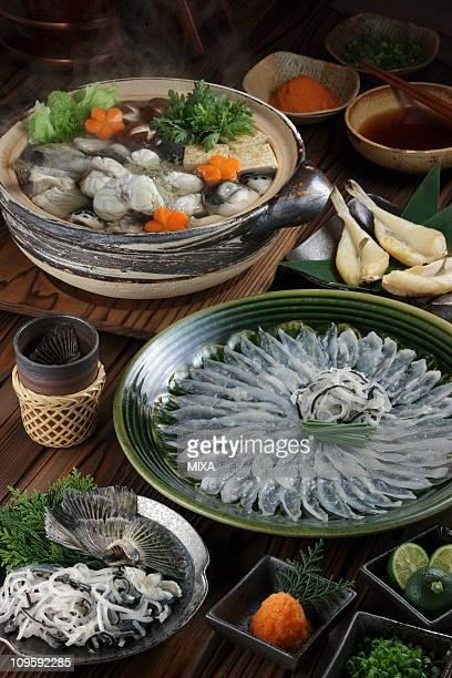fugu cuisine - 干物 ストックフォトと画像