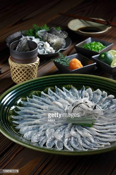 fugu-sashi - 山口県 ストックフォトと画像