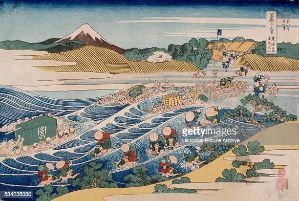 Fuji a woodblock print by Katsushika Hokusai