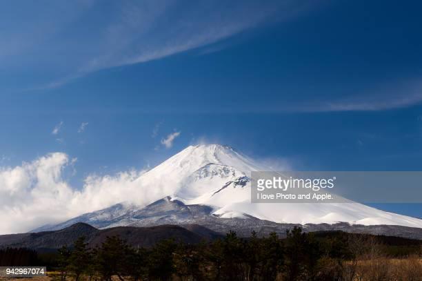 Fuji and Clouds like silk