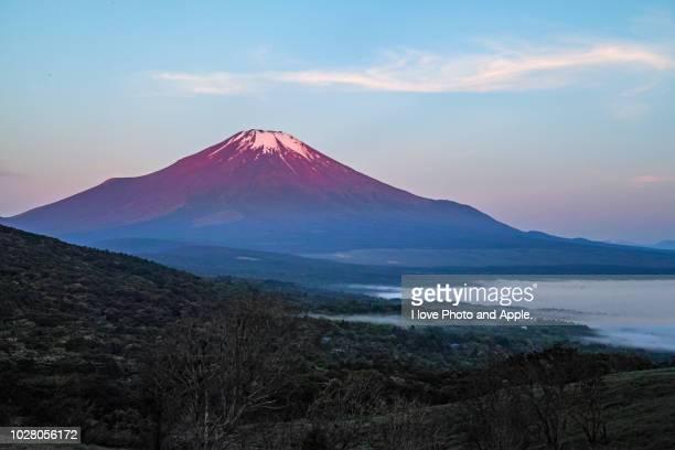 fuji and lake yamanaka - fuji hakone izu national park stock photos and pictures