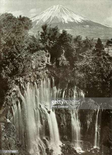 "Fuji and the Shira-Ito Waterfall', 1910. From ""In Lotus-Land Japan"", by Herbert G. Ponting, F.R.G.S. [Macmillan and Co., Limited, London, 1910]..."