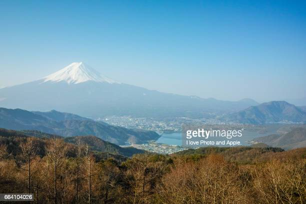 Fuji Early spring scenery