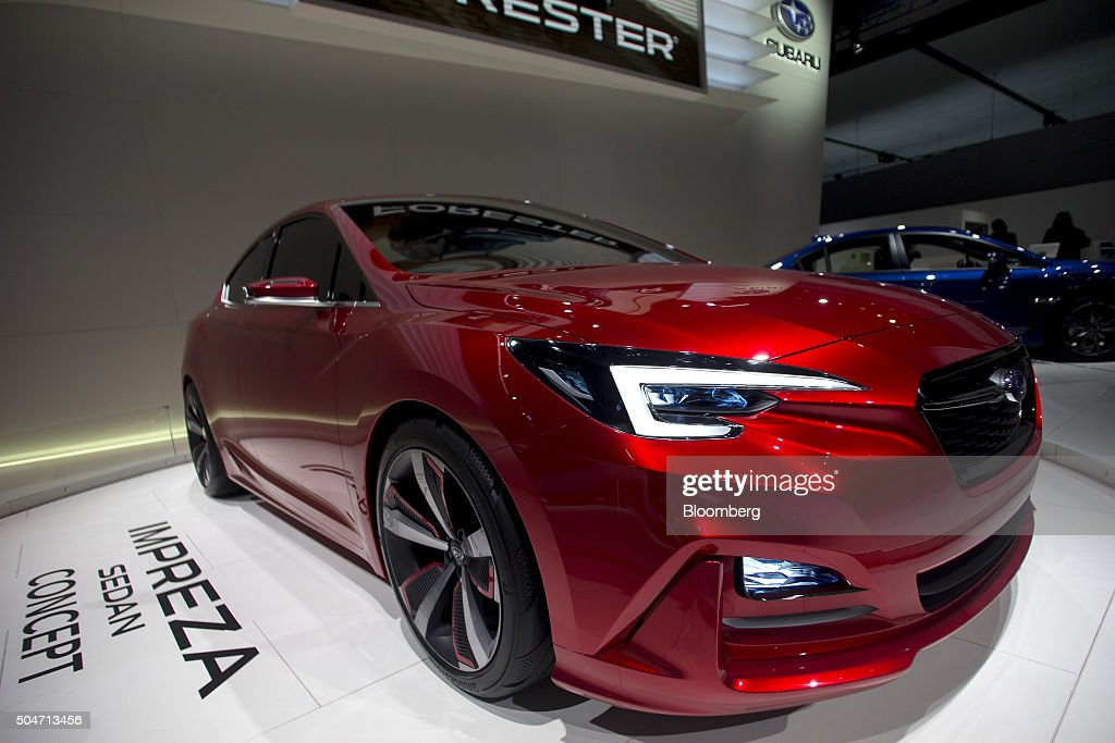 A Fuji Heavy Industries Ltd. Subaru Impreza sedan concept vehicle sits on display during the 2016 North American International Auto Show (NAIAS) in Detroit, Michigan, U.S., on Tuesday, Jan. 12, 2016. Last year's auto show featured 55 vehicle introductions, a majority of which were worldwide debuts, and was attended by over 5,000 journalists from 60 countries. Photographer: Andrew Harrer/Bloomberg via Getty Images