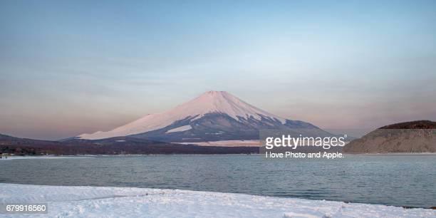 Fuji in early spring, morning scenery