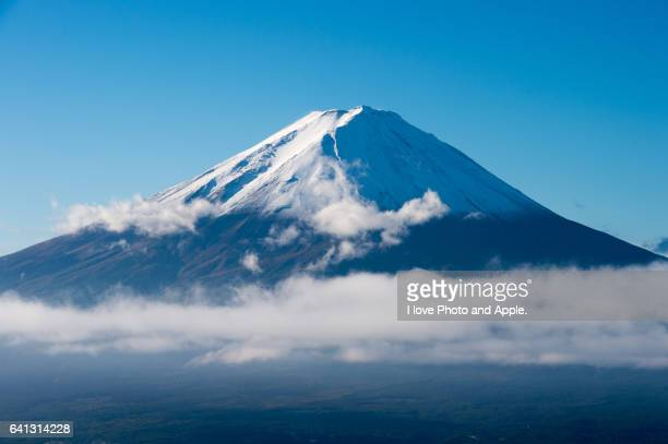 fuji in the morning light - mount fuji stock photos and pictures