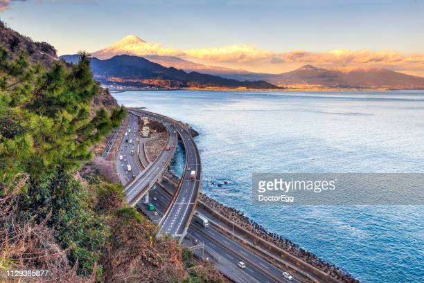 Fuji Mountain and Satta-toge Pass, Shizuoka, Japan in Winter