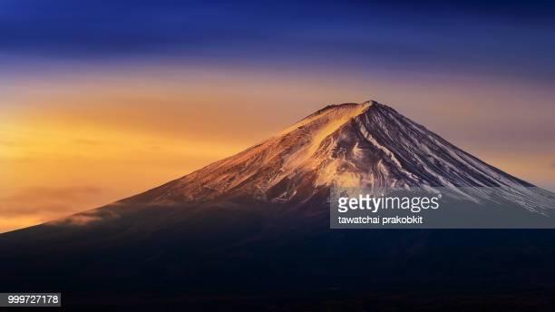 Fuji mountain at sunrise.