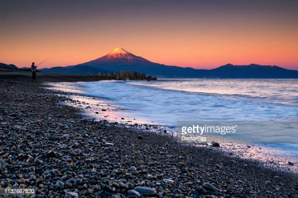 Fuji Mountain at Sunset, Miho No Matsubara Beach, Shizuoka, Japan