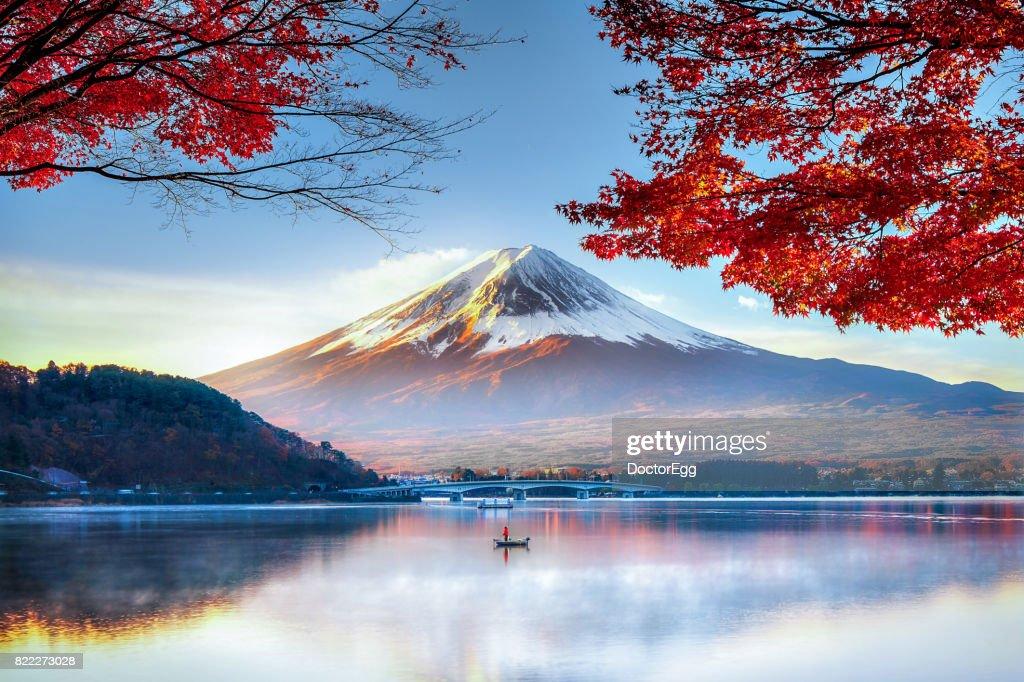 Fuji Mountain in Autumn : Foto de stock