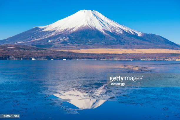 Fuji Mountain Reflection at Yamanakako Lake