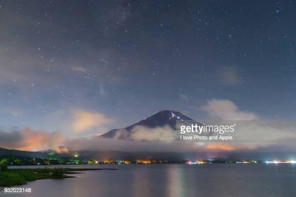 Fuji night scenery at Lake Yamanaka