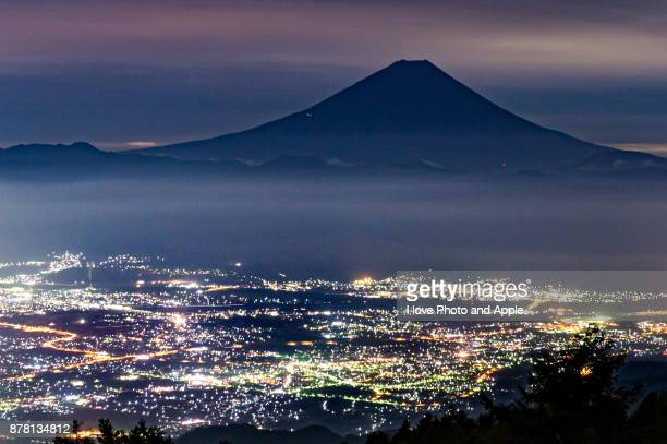 Fuji night view from Mt.Amari