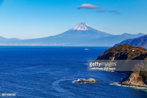 Fuji over the sea
