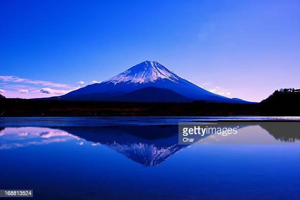 Fuji reflected in the lake