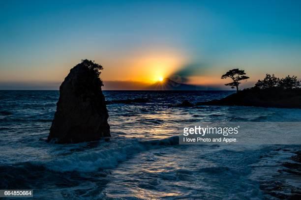 fuji sunset scenery - 八月 ストックフォトと画像