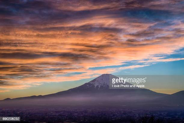 Fuji sunset scenery