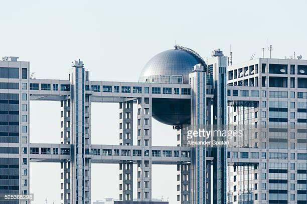 Fuji TV Headquarters at Odaiba island, Tokyo, Japan