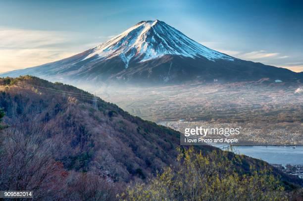 fuji view at misaka pass - fuji hakone izu national park stock photos and pictures