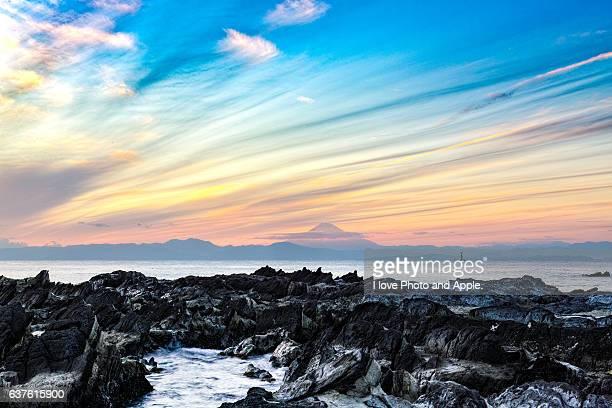 Fuji view from december Arasaki