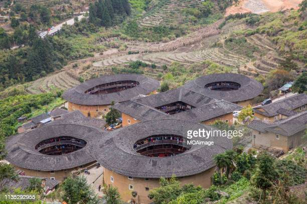 fujian tulou,china - fujian tulou stock pictures, royalty-free photos & images