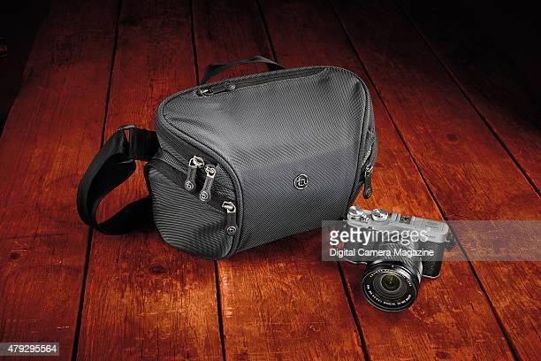 A Fujifilm XM1 digital camera with a Booq Python mirrorless camera bag taken on May 9 2014
