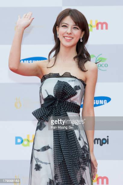 Fujii Mina from Japan arrives at the Seoul International Drama Awards 2013 at National Theater on September 5 2013 in Seoul South Korea