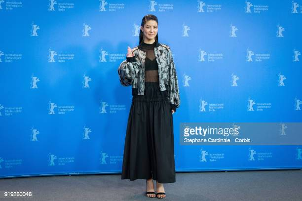 Fujii Mina poses at the 'Human Space Time and Human' photo call during the 68th Berlinale International Film Festival Berlin at Grand Hyatt Hotel on...