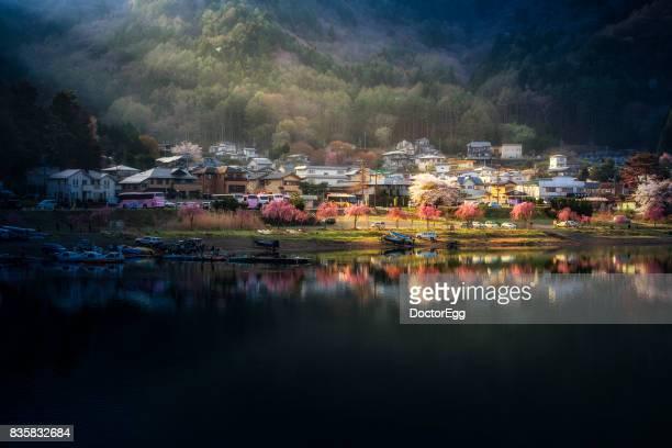 Fujikawaguchiko Town Lakeside in the Morning